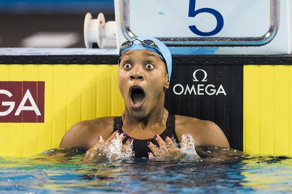 Alia Atkinson made history at the FINA World Championships in Doha today ©Giorgio Scala/Deepbluemedia