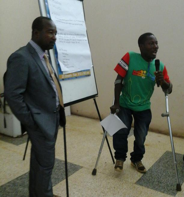 Athletes and officials spoke about ways to develop Paralympic sport in the West African nation ©Sierra Leone NPC
