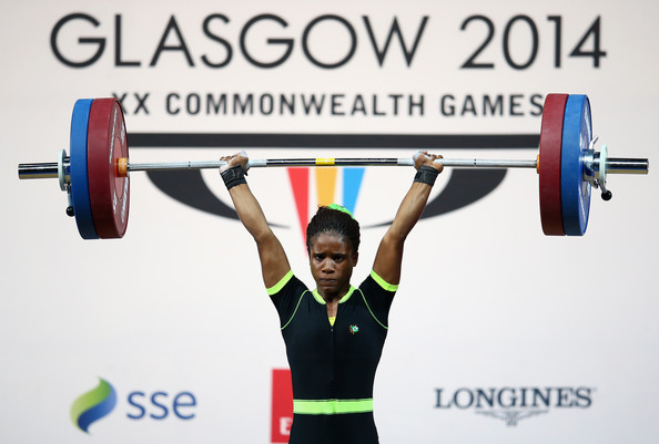 Nigerian weightlifter Chika Amalaha was one of only two athletes to test positive at Glasgow 2014 following an anti-doping programme praised by the World Anti-Doping Agency  ©Getty Images