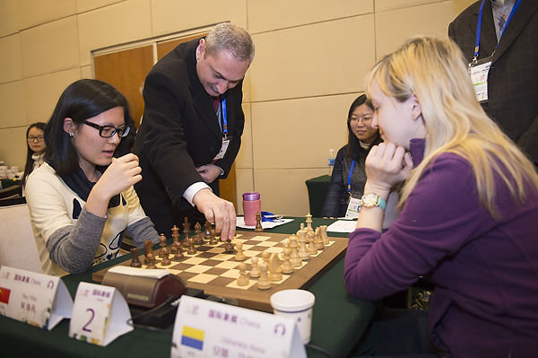 China were strong in chess on first day of World Mind Games in Beijing ©SportAccord
