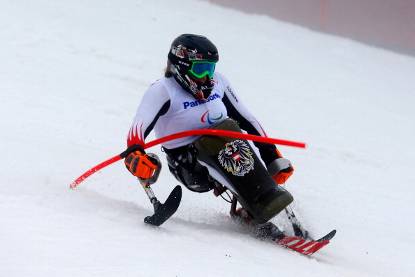 Claudia Loesch secured gold on the first day of the IPC Alpine Skiing Europa Cup ©Getty Images