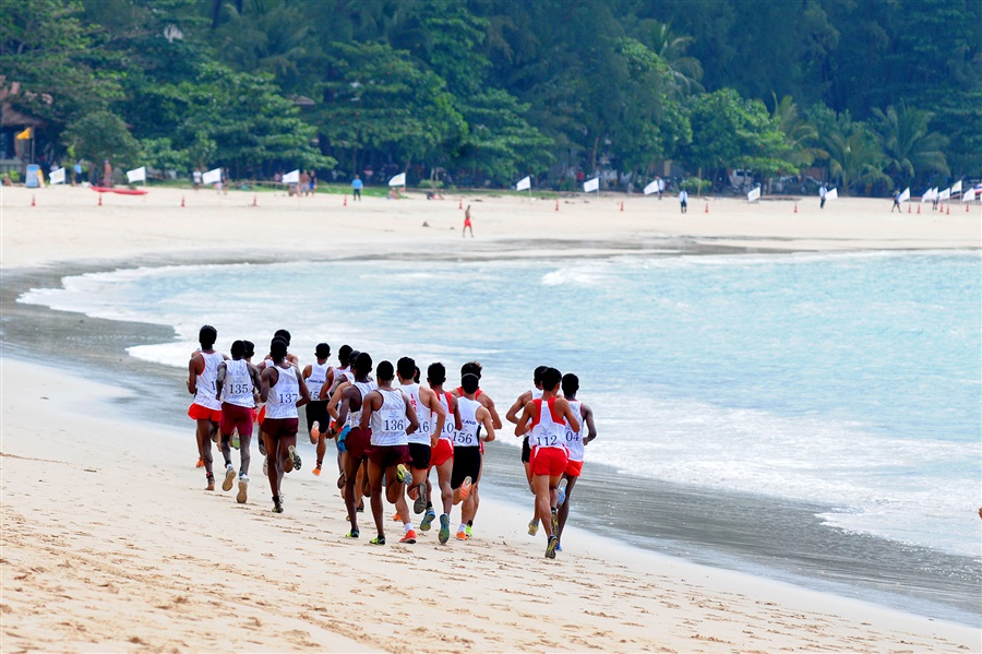 Cross country was a huge success on the sand in Phuket at the Asian Beach Games ©Phuket 2014