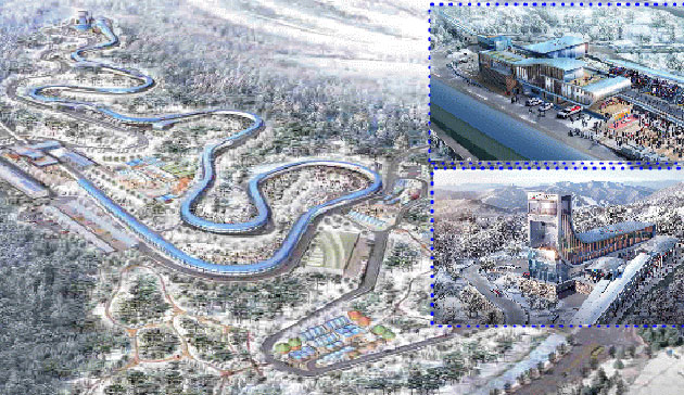 Designs for the proposed Pyeongchang 2018 sliding sports venue were unveiled in March ©Gangwon Province