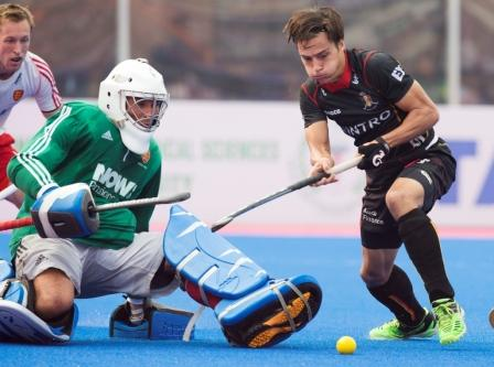 England topped Pool A after a 1-1 draw with Belgium ©FIH