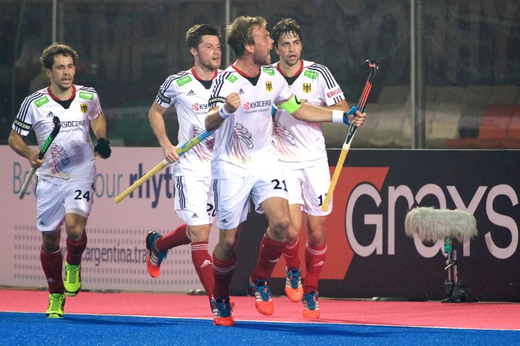 Germany produced a defensive masterclass to beat England in the quarter-finals of the Champions Trophy ©FIH