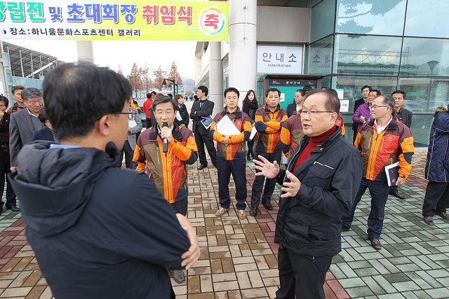 Gwangju 2015 have visited Hwasun County in a call for aid from the local Government ©Gwangju 2015