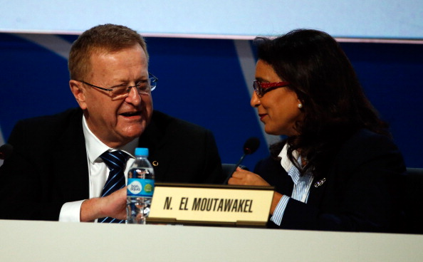 John Coates, pictured with Rio 2016 Coordination Commission head, and IOC Executive Board colleague, Nawal El Moutawakel, has admitted much progress has been made since he fiercely criticised preparations ©Getty Images
