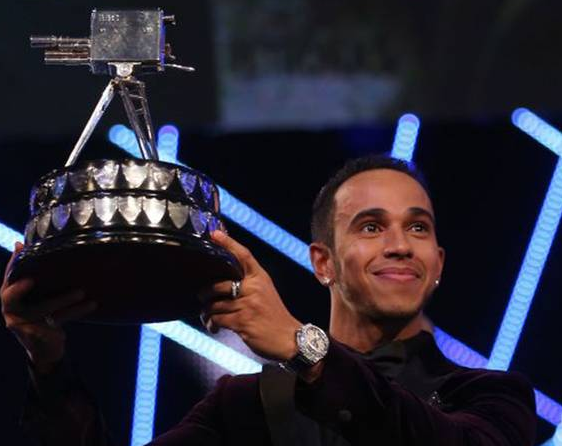 Lewis Hamilton is crowned BBC Sports Personality of the Year ©BBC