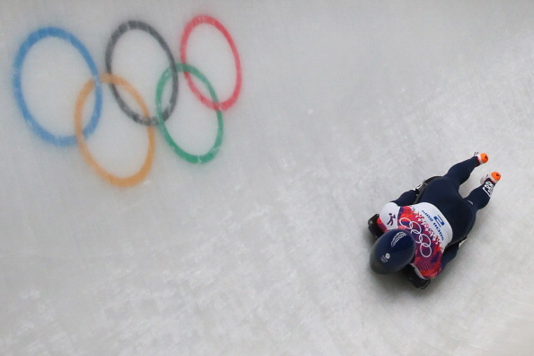 Lizzy Yarnold won Great Britain's only gold medal of the Sochi 2014 Winter Olympics ©Getty Images
