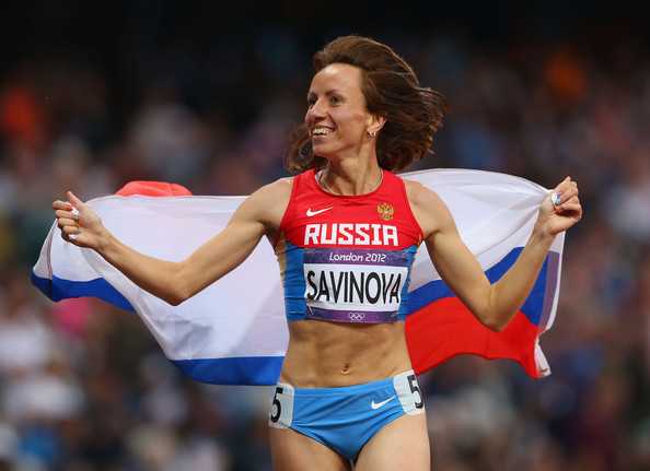 Olympic 800 metres champion Maria Savinova is among the Russian athletes accused of taking banned drugs by German television ©Getty Images
