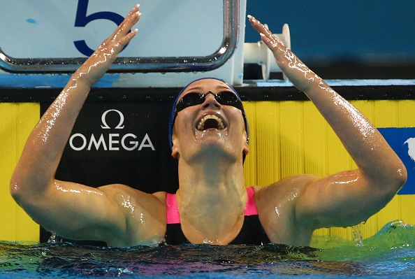 Mireia Belmonte set two world records on the opening day of the 2014 World Short-Course Swimming Championships ©Getty Images