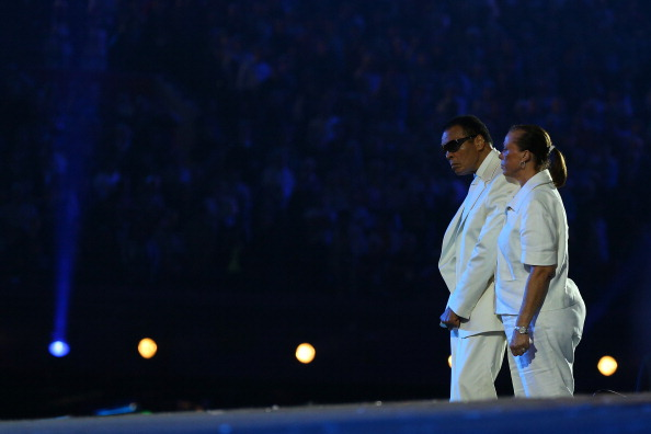 Muhammad Ali, with his wife Lonnie, at the London 2012 Olympic Games Opening Ceremony ©Getty Images