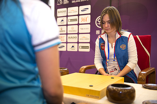 Natalia Kovaleva secured a rare European win in the women's individual Go matches on day one of competition at the World Mind Games ©SportAccord