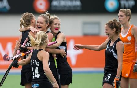 New Zealand earned a surprise draw against The Netherlands on day two of the Women's Champions Trophy in Argentina ©FIH