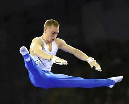 Oleg Verniaiev has retained his Glasgow World Cup Gymnastics all-around title with an outstanding performance ©British Gymnastics/Facebook