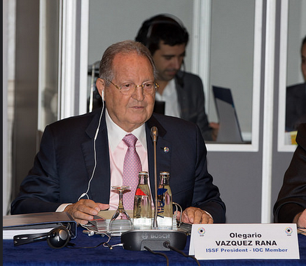Olegario Vazquez Raña faces a challenge is his bid to return as ISSF President for another four years ©ISSF