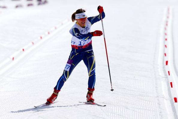 Oleksandra Kononova secured her fourth win of the IPC Nordic Skiing World Cup in Vuokatti, Finland ©Getty Images