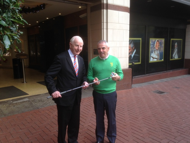 Ryder Cup-winning captain Paul McGinley was among those unveiled by Olympic Council of Ireland President Patrick Hickey as a team leader for Rio 2016 ©OCI