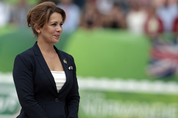 Princess Haya at the World Equestrian Games in Normandy in August ©Getty Images