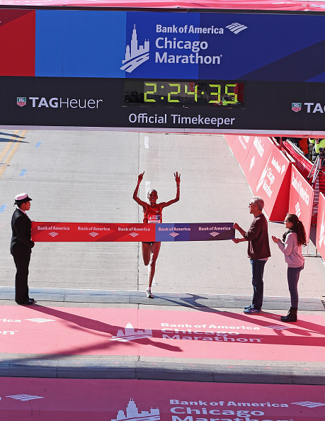 Rita Jeptoo won the 2014 Chicago Marathon in October after testing positive for EPO the month prior ©Getty Images