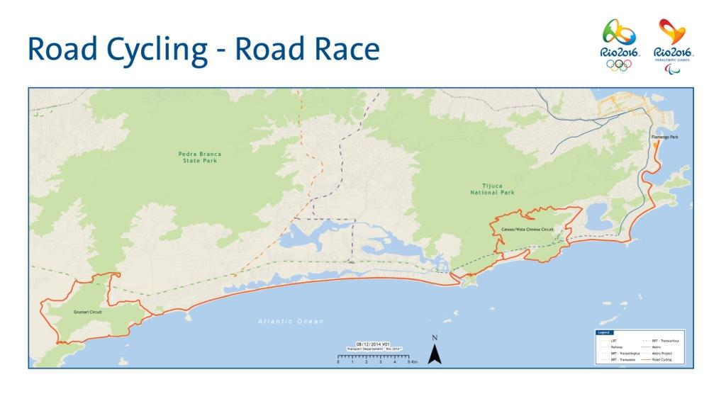 Road Cycling Road Race course confirmed for Rio 2016 ©UCI