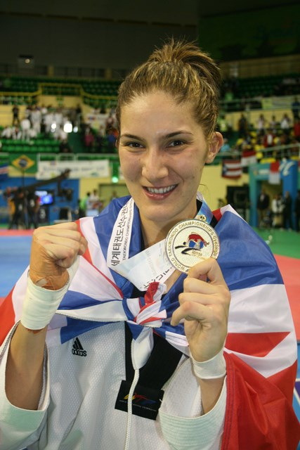 Sarah Stevenson claimed an emotional world title at Gyeongju in 2011 ©Steve Flynn/GB Taekwondo