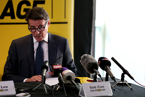 Sebastian Coe put forward his manifesto for his IAAF Presidential campaign at the British Olympic Association headquarters in London ©Getty Images
