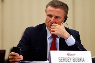 Sergey Bubka is widely expected to be Sebastian Coe's main challenger to replace Lamine Diack as President of the IAAF ©Getty Images