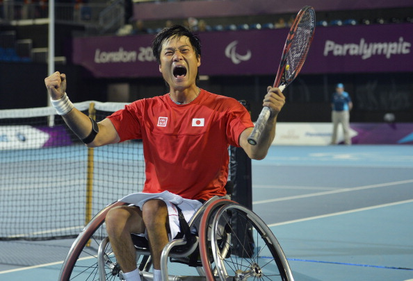 Shingo Kunieda is among the six Para-athletes shortlisted for the Allianz Athlete of the Month poll for November 2014 ©Getty Images