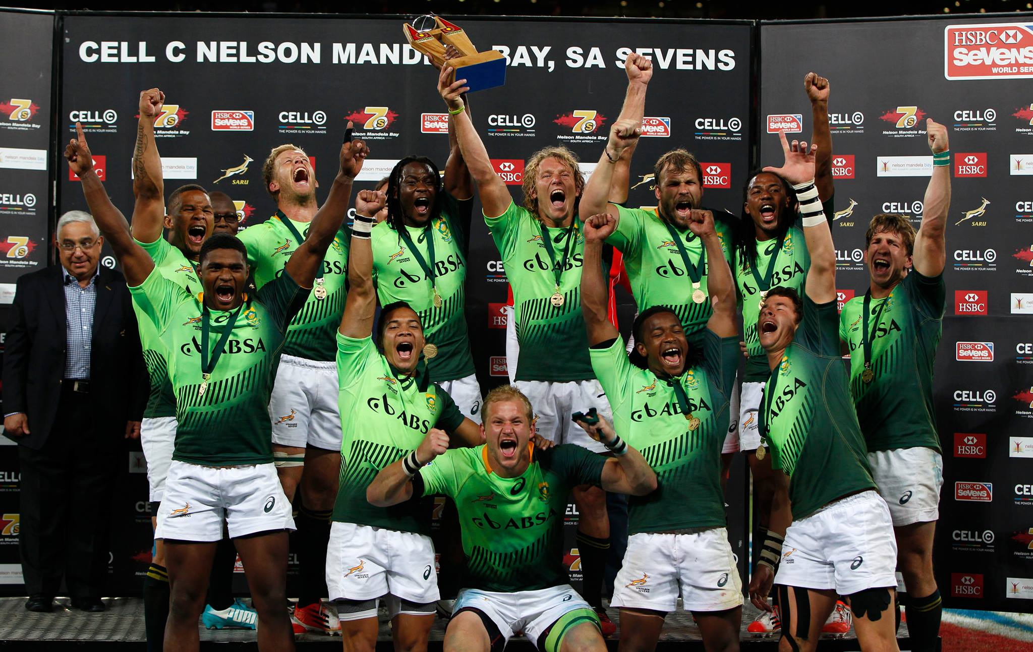 South Africa have defeated New Zealand to retain their home Sevens World Series title ©World Rugby Sevens Series