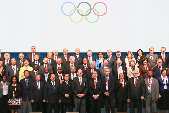 The IOC pose following the Session today ©Getty Images