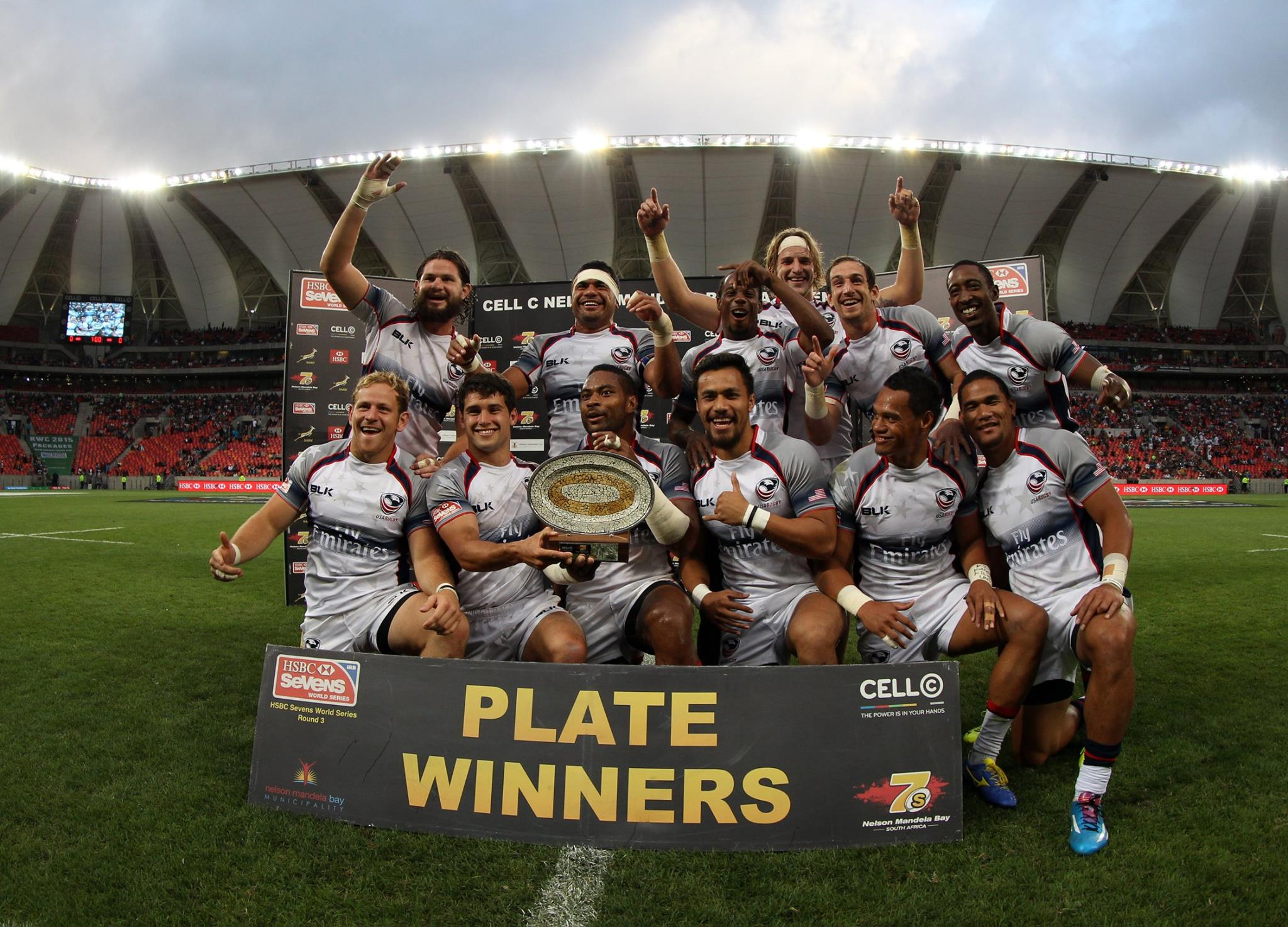The United States were the winners of the Plate in South Africa ©World Rugby Sevens Series