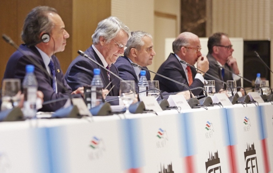 The five FEI Presidential candidates outlined their manifestos in Baku today ©FEI