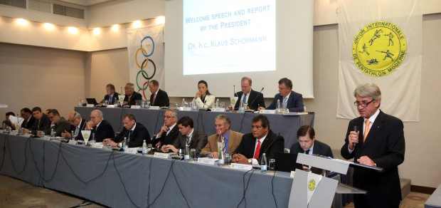 The  new fencing bonus round is another way to protect the Olympic status of the sport, UIPM President Klaus Schormann claimed after the Congress in Sofia ©UIPM