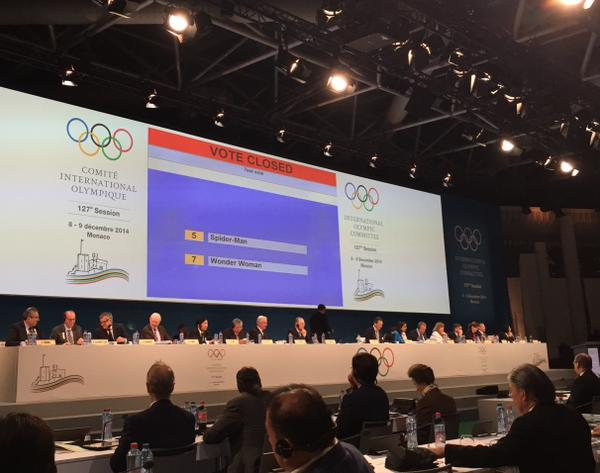 The test vote during the IOC Session ©Twitter