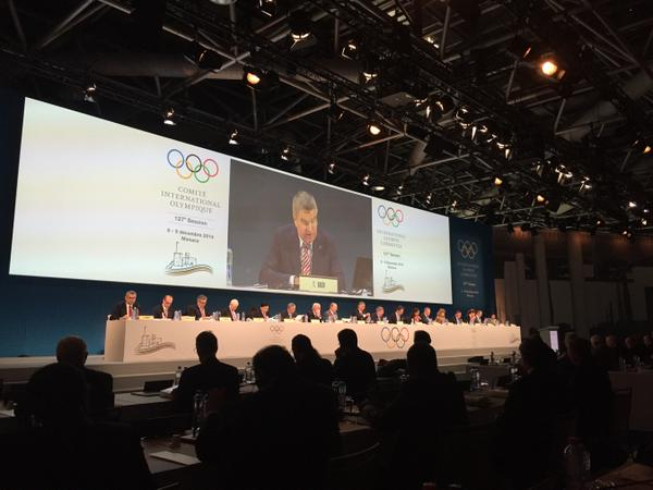 Thomas Bach provided a lengthy address to re-explain the Agenda 2020 process before discussions began ©Twitter