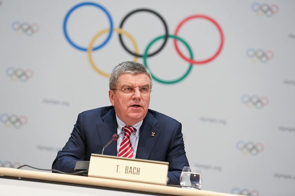 Thomas Bach speaking at the end of the Session ©Getty Images