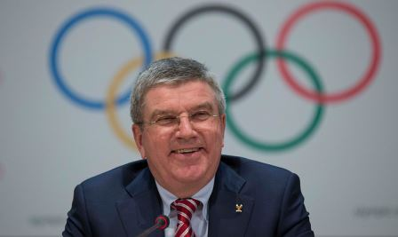 Thomas Bach was in jovial mood at this evening's press conference following the passing of all 40 recommendations ©IOC