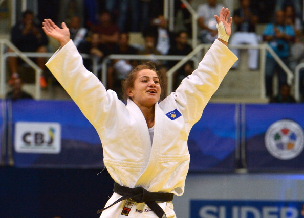 World judo champion Majlinda Kelmendi competed for Albania at London 2012 but should now compete for Kosovo in Rio ©AFP/Getty Images