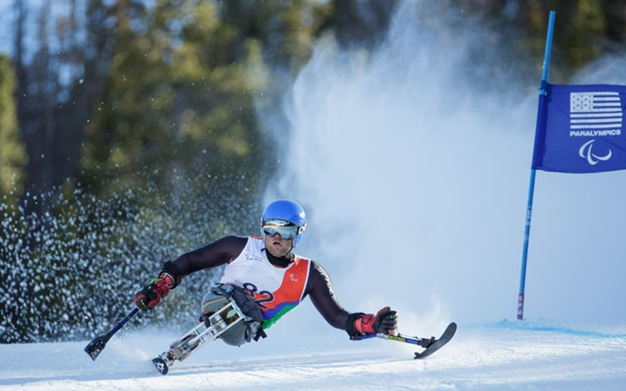 Tyler Walker was on strong form for the US following his crash during Sochi 2014 ©US Paralympics