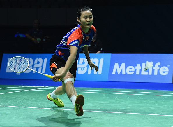 Wang Yihan exited the BWF World Superseries Finals with an injury ©Getty Images