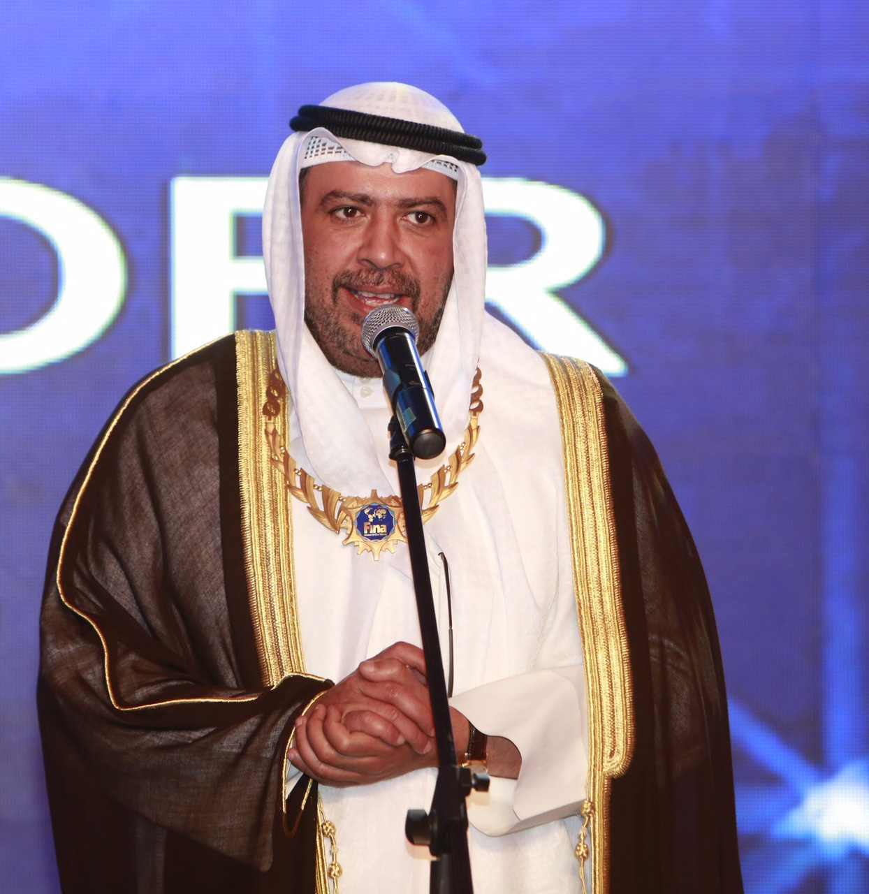 President of the Association of National Olympic Committees ANOC Sheikh Ahmad Fahad Al-Sabah has received a special award from FINA ©FINA