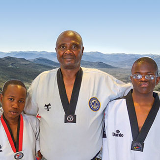 Lydia Masole Pitso and Phoofolo Mokhethi: Enthusiastic newcomers from Lesotho