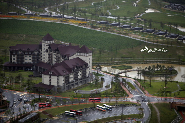 The Alpensia Resort, the main centre for Pyeongchang 2018, is crippled by heavy loans, it is reported, with a looming deadline to repay half the money ©AFP/Getty Images