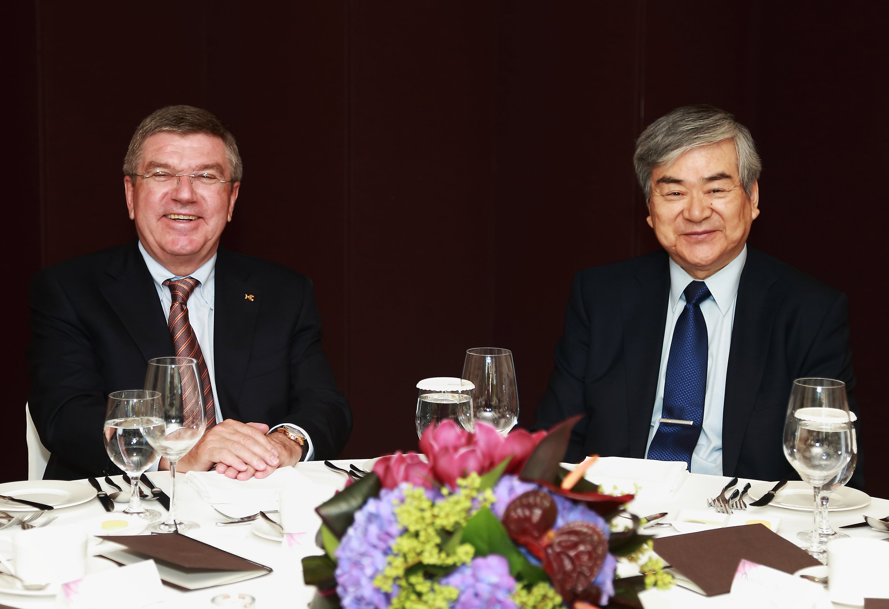 International Olympic Committee President Thomas Bach was among those to welcome the return of Cho Yang Ho as head of Pyeongchang 2018 ©Pyeongchang 2018