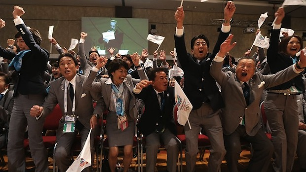 Tokyo celebrate being awarded the 2020 Olympics and Paralympics at the IOC Session in Buenos Aires in September 2013 ©AFP/Getty Images