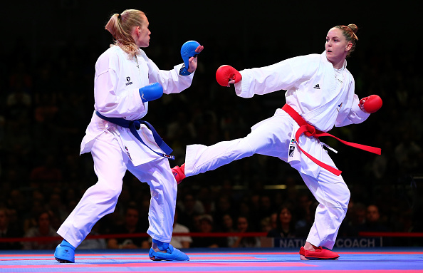 Alizée Agier (right) is among the world class field set to compete at the Karate 1 Premier League Paris ©Getty Images