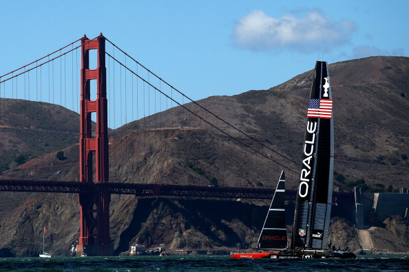 The 2013 America's Cup, raced in San Francisco Bay, left the city $11.5 million in the red, claim the SF NO 2024 group ©Getty Images