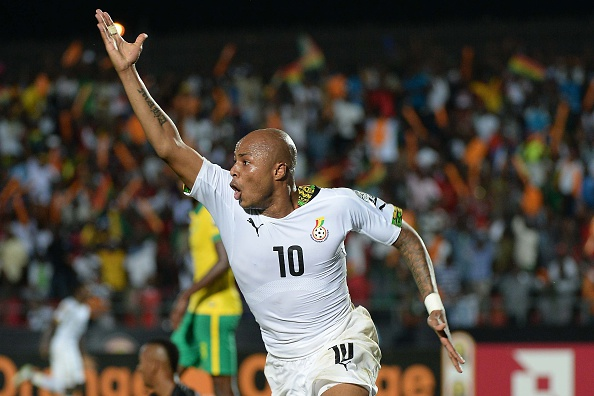 Andre Ayew scored a late winner to ensure Ghana's progression to the Africa Cup of Nations quarter-final stages ©Getty Images