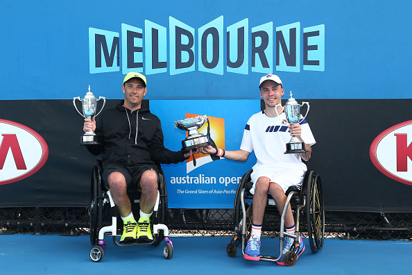 Andy Lapthorne and David Wagner have won the Australian Open wheelchair tennis quad doubles title ©Getty Images
